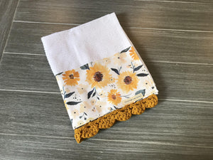 Sunflower Meadows Crochet Kitchen Bar Mop Towel