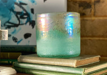 Load image into Gallery viewer, Aqua Glass Vase - The Vintage Home Studio
