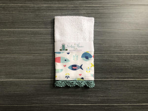 Fish in the Sea Crochet Kitchen Bar Mop Towel