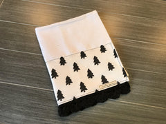 Farmhouse Solid Trees Crochet Kitchen Bar Mop Towel