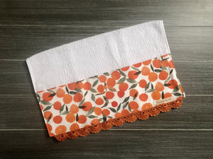 Tangerine Summer Crochet Kitchen Bar Mop Towel