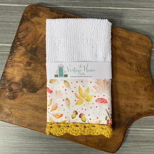 Fall in the Forest Crochet Kitchen Bar Mop Towel