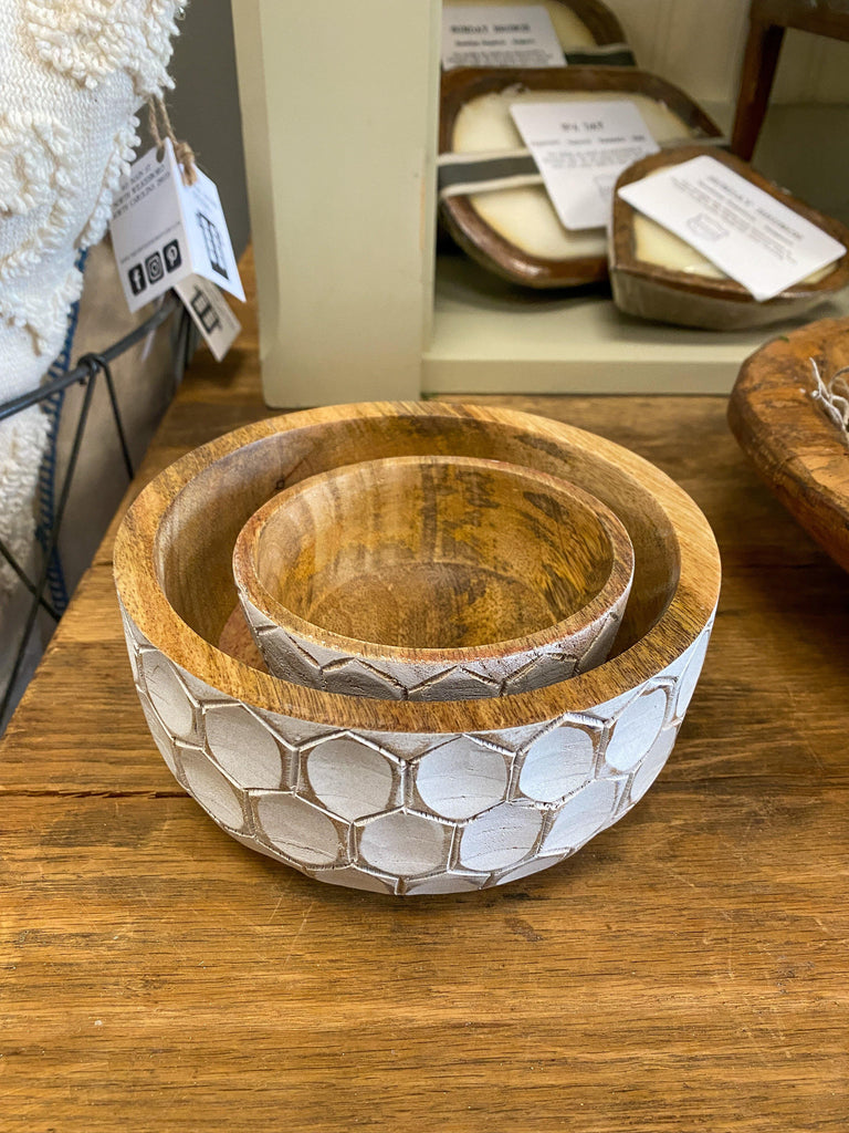 Carved Wood Bowls - The Vintage Home Studio