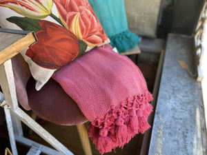 Woven Tassel Edge Throws