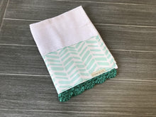 Load image into Gallery viewer, Teal Herringbone Crochet Kitchen Bar Mop Towel