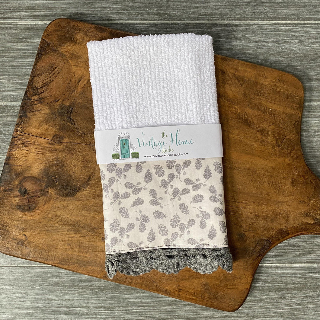 Fall at the Farmhouse Crochet Kitchen Bar Mop Towel