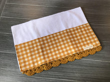 Load image into Gallery viewer, Marigold Farmhouse Buffalo Check Crochet Kitchen Bar Mop Towel