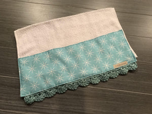 Icy Snowflakes Crochet Kitchen Bar Mop Towel