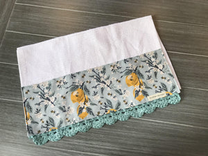 Lemons & Bees, Please! Crochet Kitchen Bar Mop Towel