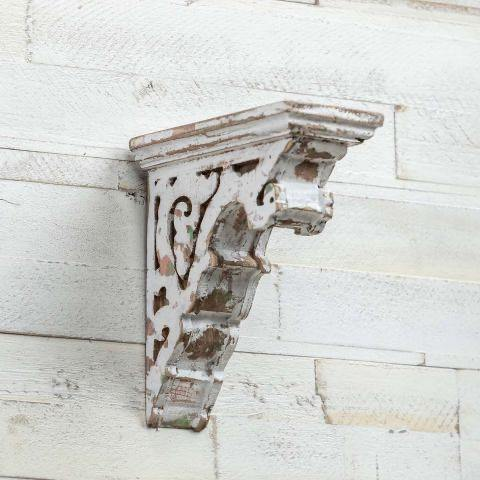 Aged White Corbel - The Vintage Home Studio