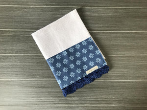 Tiny Daisies in Classic Blue Crochet Kitchen Bar Mop Towel