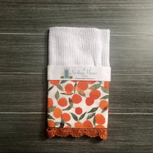 Load image into Gallery viewer, Tangerine Summer Crochet Kitchen Bar Mop Towel