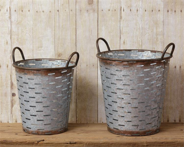 Olive Buckets - The Vintage Home Studio