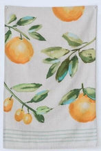 Load image into Gallery viewer, Orange Cotton Tea Towel Set