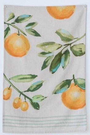 Orange Cotton Tea Towel Set