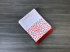 Petite Red Hearts Crochet Kitchen Bar Mop Towel