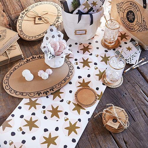 Holiday Ornaments Table Runner