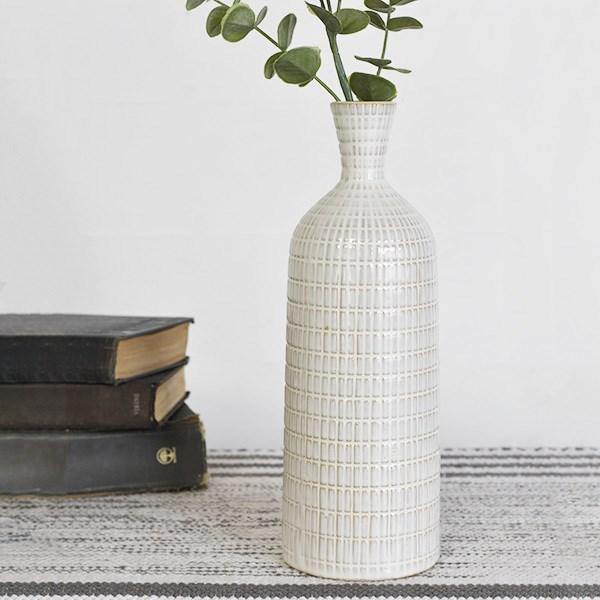 Textured Skinny Vases - The Vintage Home Studio