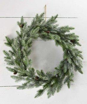 Evergreen Wreath with Pinecones