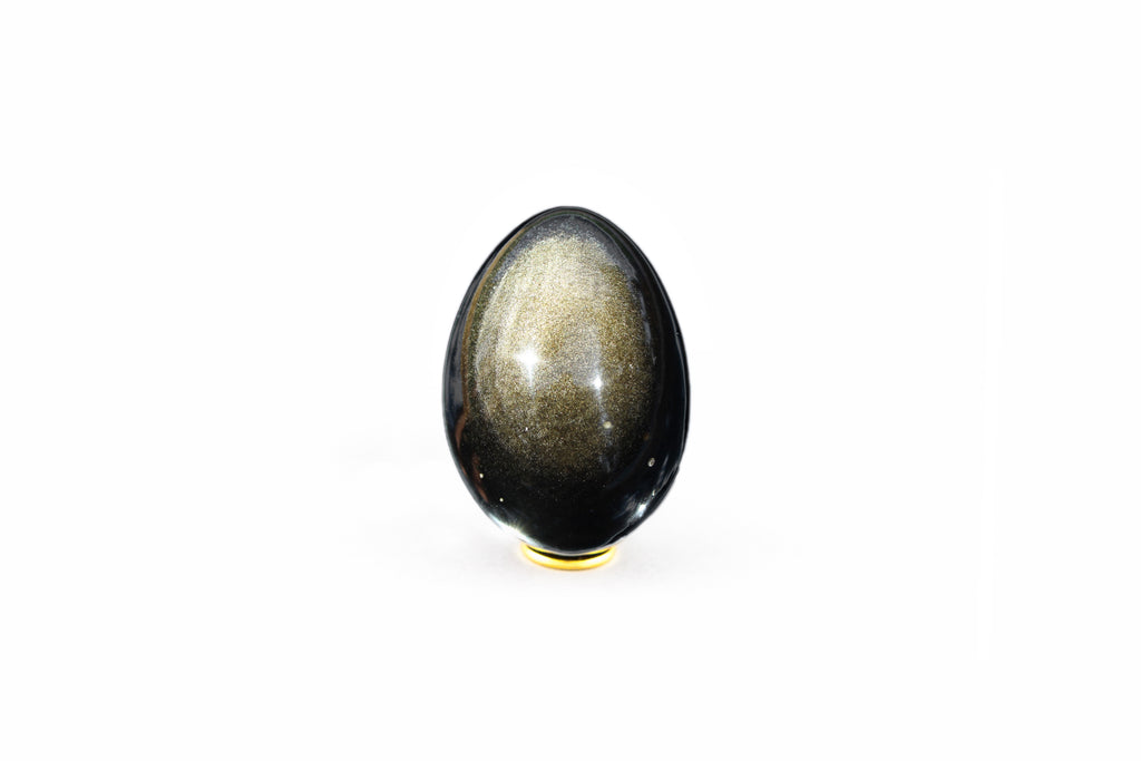 Golden Sheen Obsidian Yoni Egg