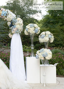 Blue White Altar Flower Flowers