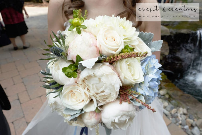 Blue White Bouquet