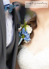 Load image into Gallery viewer, Blue White Boutonniere