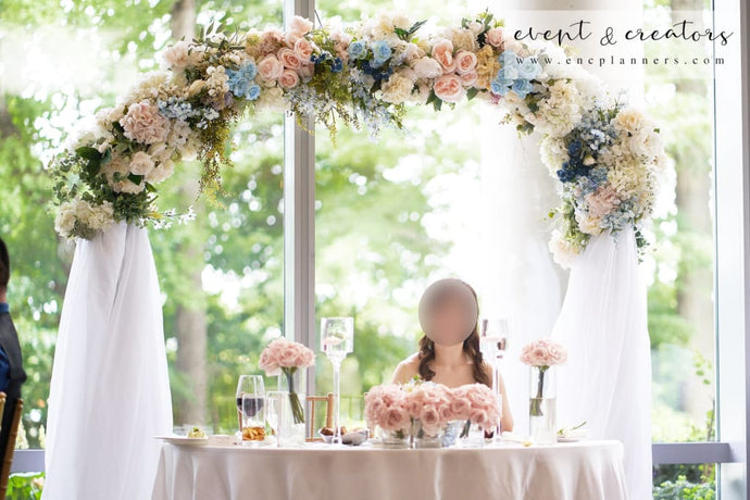 Blue White Sweetheart Table