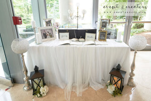 Blue White Welcome Table Tables