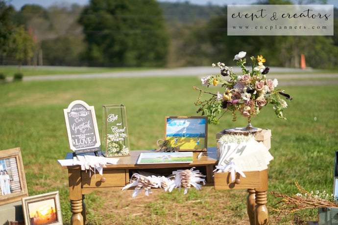 Farm Themed Welcome Table Tables