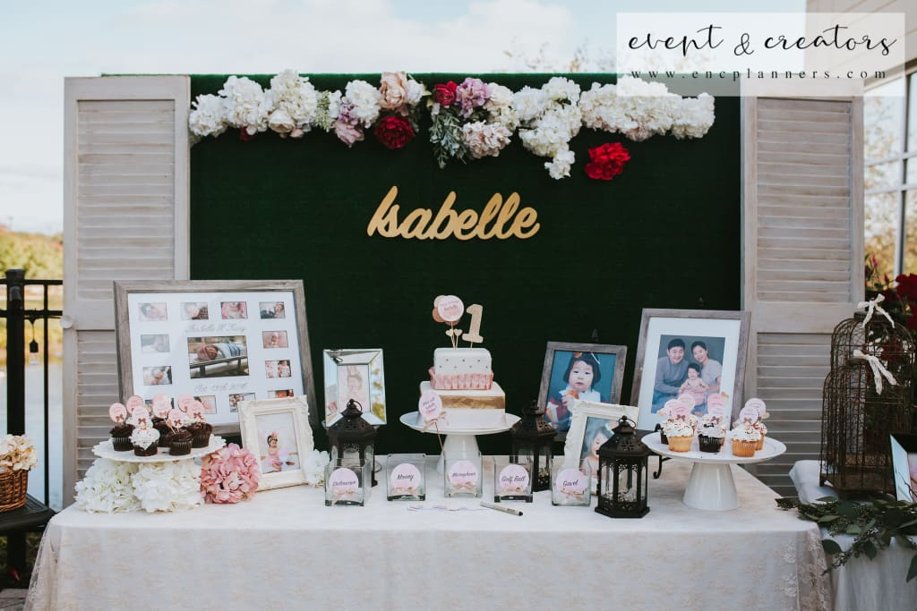 Rose Birthday Photo & Event Table 1St Party