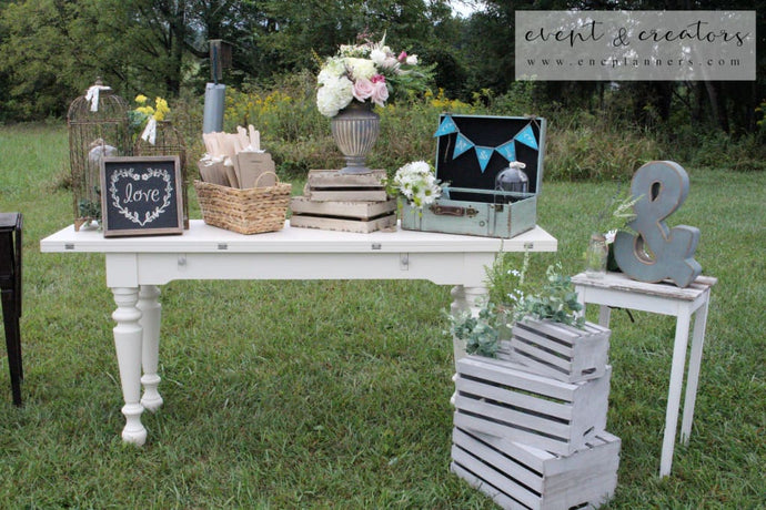 Rustic Welcome Table Tables