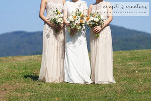 Vineyard Cream Orange Bridesmaid Bouquet
