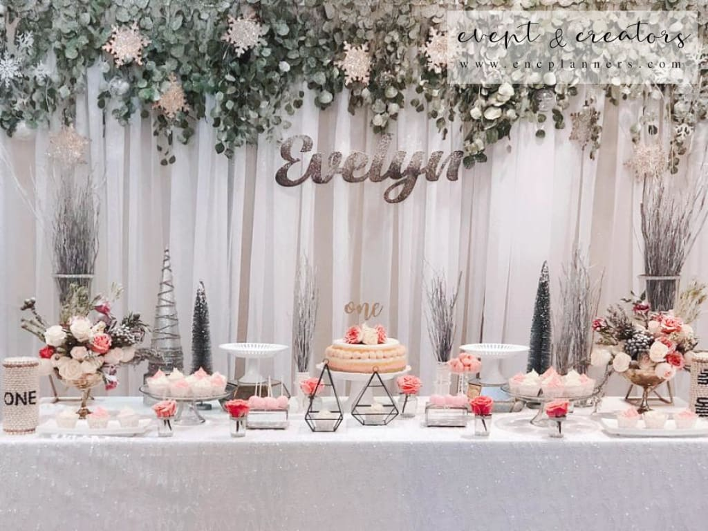 Winter Wonderland Birthday Table 1St Party