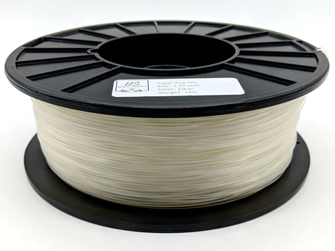 Clear PLA Filament Clear / Pure 1.75mm 1 kg- Natureworks 3D850 High Temp
