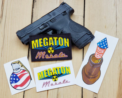 Megaton Morale Combo Pack - Patch + Stickers