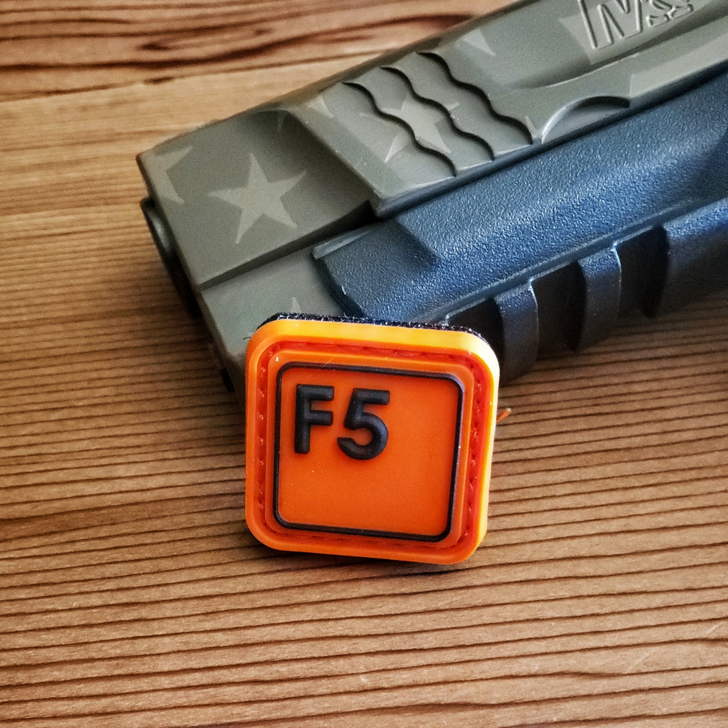 F5 - Black on Orange