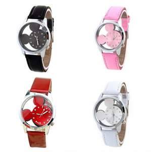 Designer Mickey Mouse Crystal Hollow Watch | Designer Dresses & Accessories | My Lebaz