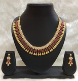 Royal Ruby Beaded Necklace Set | Designer Dresses & Accessories | My Lebaz