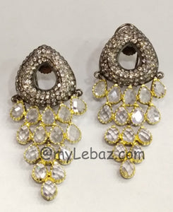 Beautiful White Crystal Earrings | Designer Dresses & Accessories | My Lebaz