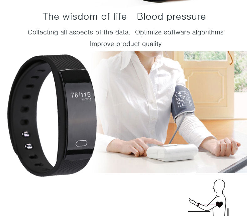 Smart Watch Bluetooth Heart Rate With Message Reminder And Sleep Monitoring for IOS Android | Designer Dresses & Accessories | My Lebaz