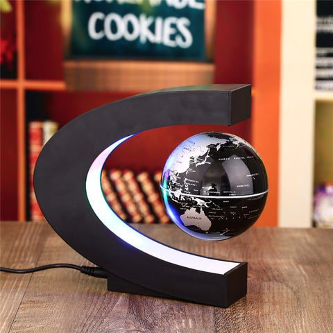 Premium Quality Antigravity Electronic Magnetic Levitation Floating Globe Magic Light With US Plug