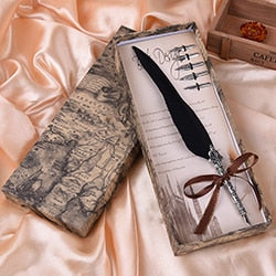 Feather Dip Pen Gift Set | Designer Dresses & Accessories | My Lebaz