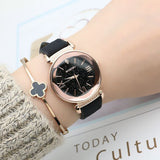 New Rose Gold Leather Designer Gift Women Watch | Designer Dresses & Accessories | My Lebaz
