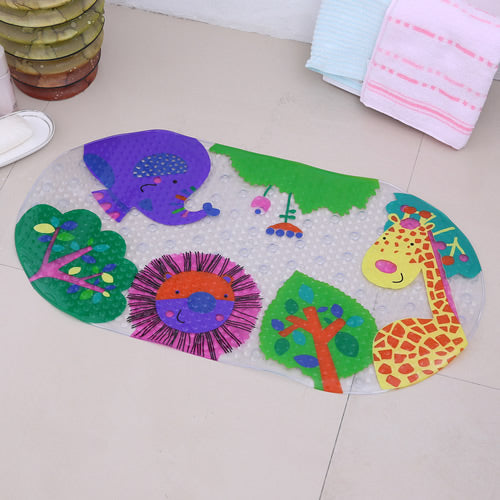 Cute Cartoon Anti-Slip PVC Bath Mats With Sucker For Baby | Designer Dresses & Accessories | My Lebaz
