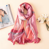 Shades of Pink Multi-Color Pattern Paris Series Premium Quality Luxury Silk Scarf | Designer Dresses & Accessories | My Lebaz