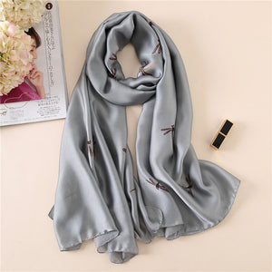 Grey Daily Wear Simple Pattern Women Scarf | Designer Dresses & Accessories | My Lebaz
