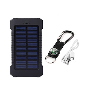 Waterproof Solar Power Bank 20000 mAh External Battery Charger With Dual Port For Mobile Phone & Tablets | Designer Dresses & Accessories | My Lebaz