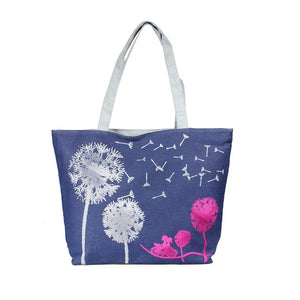 Canvas Printed Women Beach Shopping Tote Shoulder Hand Bag | Designer Dresses & Accessories | My Lebaz