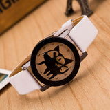 Unisex Funky Cat Lover Delight Designer Faux Leather Wrist Watch | Designer Dresses & Accessories | My Lebaz